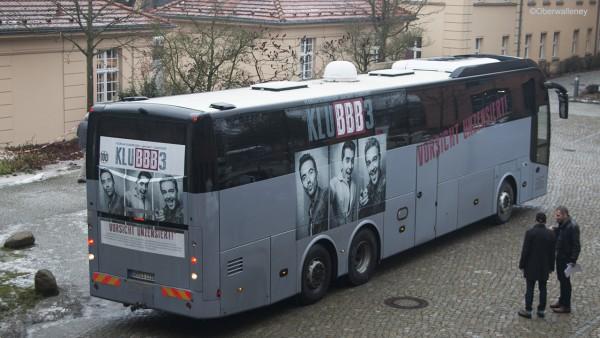 Klubbb3 Bus auf dem RBB Gelände in Potsdam