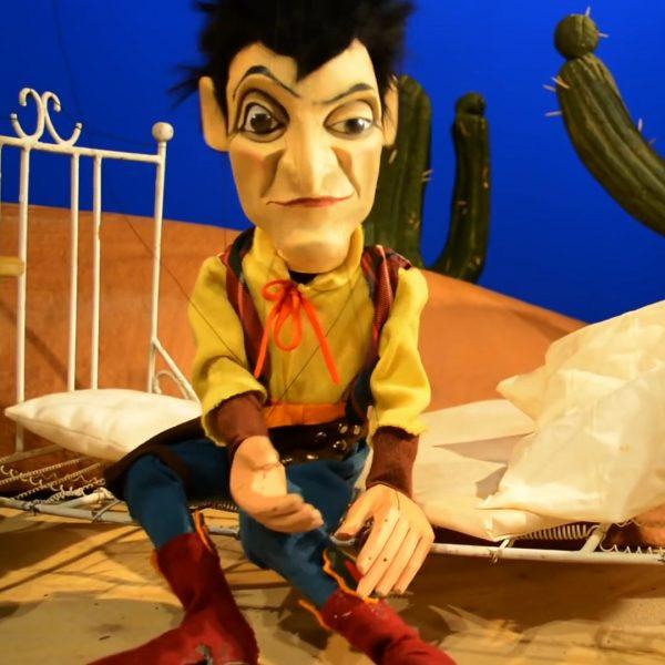 """Wiederzuerkennen. Bela B als Marionette in seinem Video """"Einer bleibt liegen"""""""