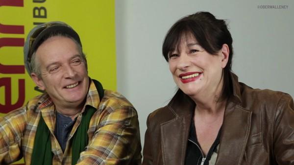 Hatten eine Menge Spaß beim Interview. Ulla Meinecke und Ingo York